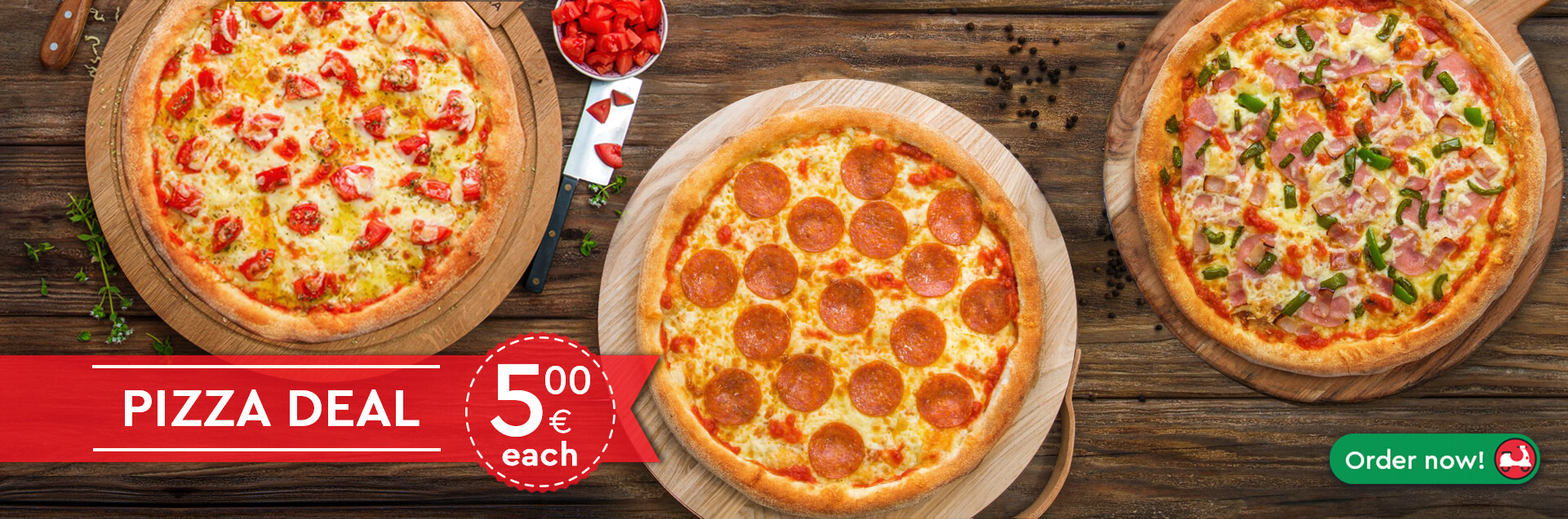 You are different, why not your pizza? Three CLASSICA pizzas for all the family only for 15€!